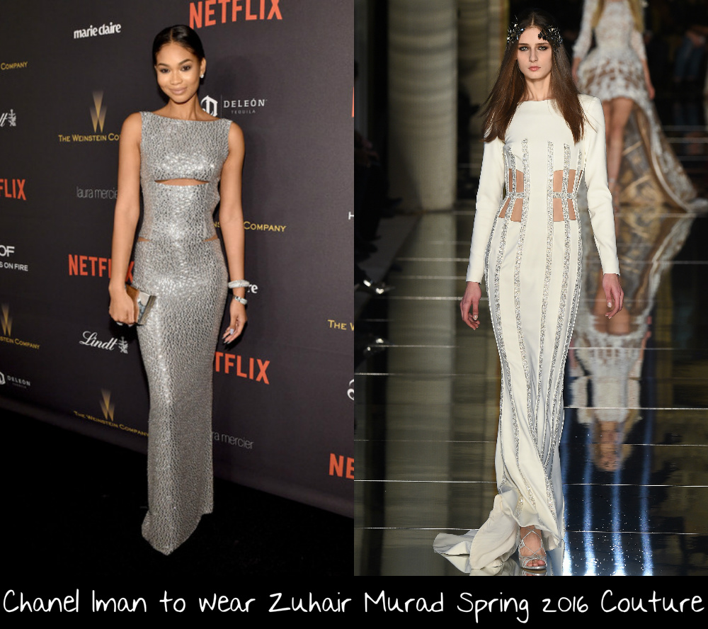 ba7d95a9afc Model Chanel Iman has been spotted at all the major parties over the last  year so I am sure that the Vanity Fair Oscar Party veteran will be out on  Oscar ...