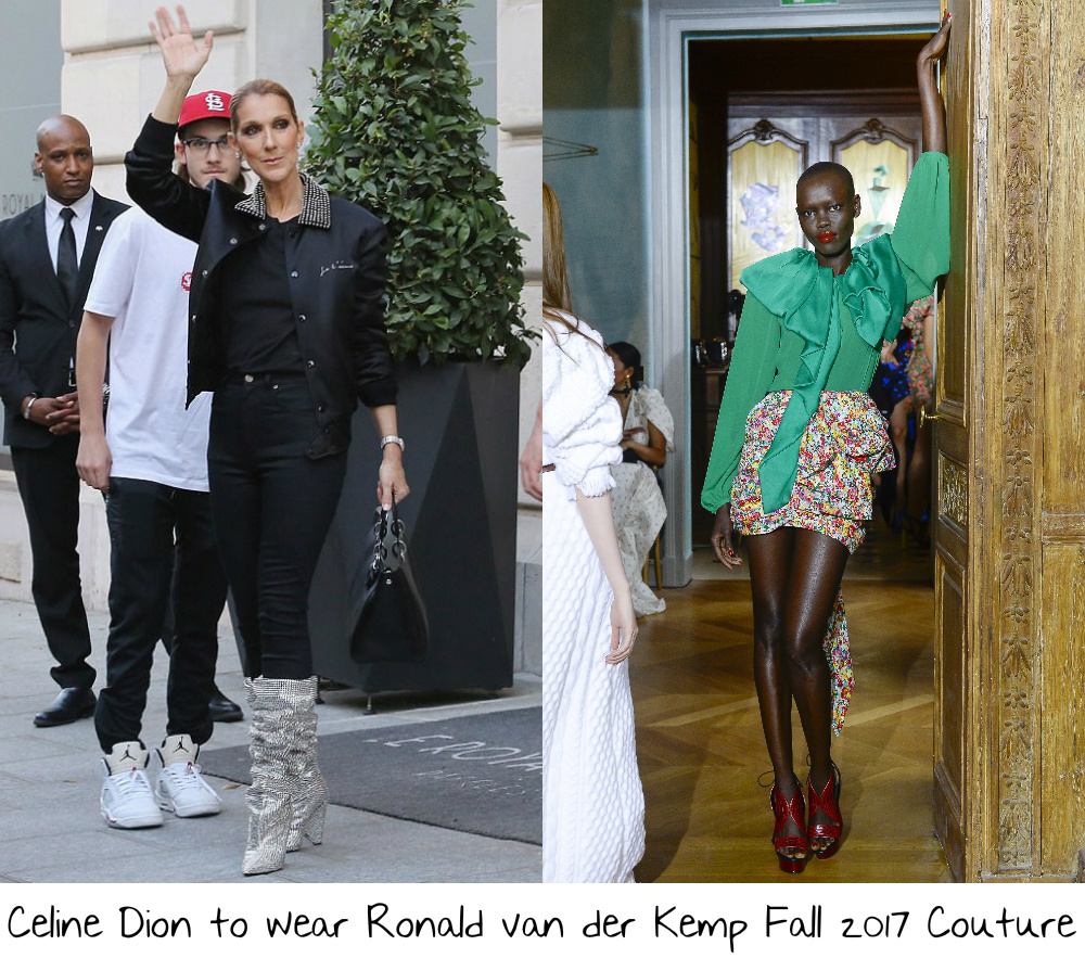 a362af0374c Following Celine rocking the front rows at some of the shows during Paris  Couture Fashion Week I found myself asking why she had yet to wear couture  for her ...