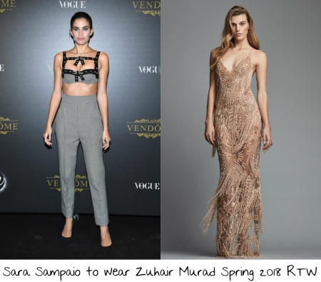 9f32f545d0 Sara Sampaio would probably be my guess to be voted most likely to wear a  naked  dress  on the red carpet at the Victoria s Secret Fashion Show after party.