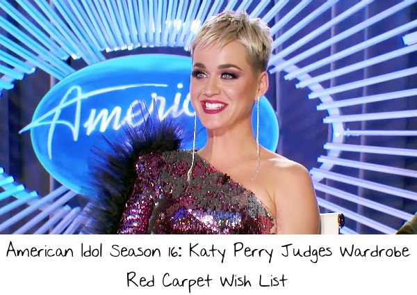 american idol season 16 katy perry judges wardrobe red carpet wish