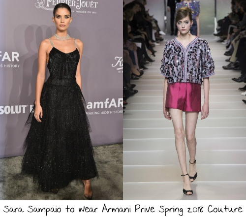 712139bd2e2 Picking Sara Sampaio to sit front row at this show could go one of three  ways. 1) She could get all dolled up and own the front row at the Armani  Prive ...
