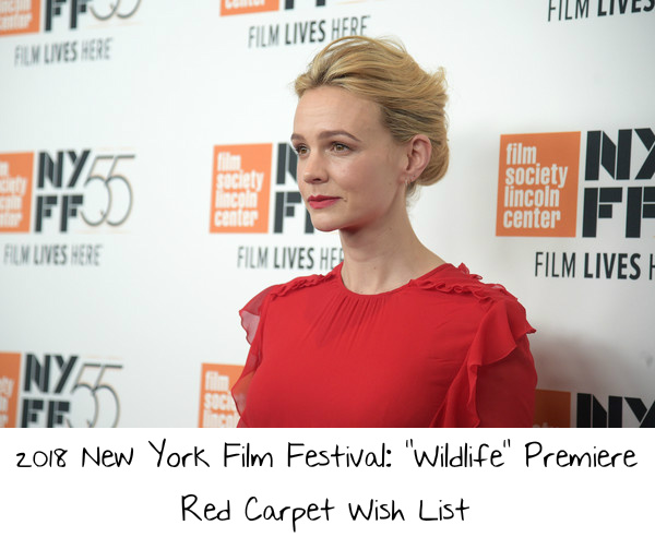 2018 New York Film Festival Wildlife Premiere Red Carpet