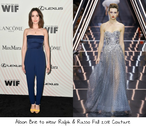 513ac8817 Alison Brie has been knocking it out of the park so far this year and for  the 2018 Emmy Awards, where her Netflix series GLOW is nominated for  Outstanding ...