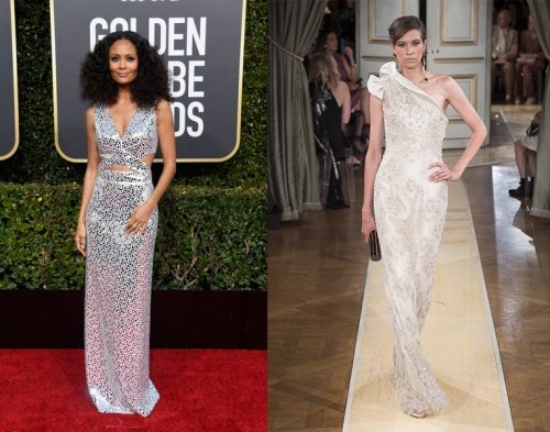 bab6021812a Thandie Newton gave modern disco glamour wearing a silver Michael Kors  moment on the red carpet at the Golden Globe Awards. I want to see Thandie  give me ...