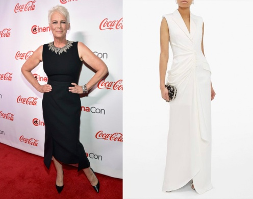 "Jamie Lee Curtis to wear Alexander McQueen for the premiere of ""Knives Out"""