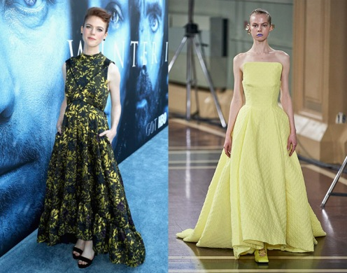 Rose Leslie to wear Emilia Wickstead Spring 2020 RTW