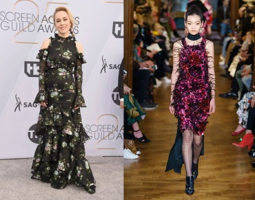Sarah Goldberg to wear Erdem Fall 2019 RTW