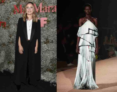 Olivia Wilde to wear Mary Katrantzou Spring 2020 RTW