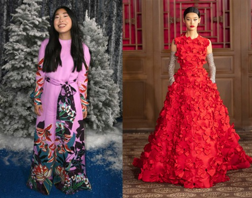 Awkwafina to wear Valentino Haute Couture Beijing Fall 2019