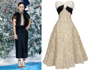 Emilia Clarke to wear Pierre Balmain Fall 1954 Haute Couture from Shrimpton Couture