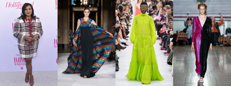 Mindy Kaling to host the Costume Designers Guild Awards wearing Christian Siriano Spring 2020 RTW, Valentino Spring 2020 RTW, & Ashish Spring 2020 RTW