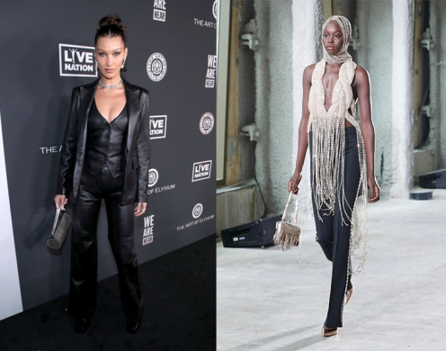 Bella Hadid to wear Area Fall 2020 RTW