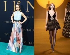 Lily Collins to wear RaisaVanessa Fall 2020 RTW