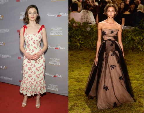 Thomasin Mckenzie to wear Christian Spring 2017 Couture