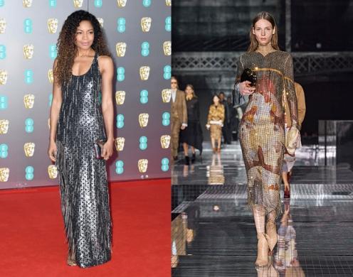 Naomie Harris to wear Burberry Fall 2020 RTW