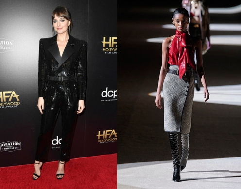 Dakota Johnson to wear Saint Laurent Fall 2020 RTW