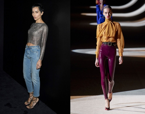 Zoe Kravitz to wear Saint Laurent Fall 2020 RTW