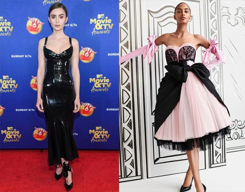Lily Collins to wear Moschino Spring 2021 RTW