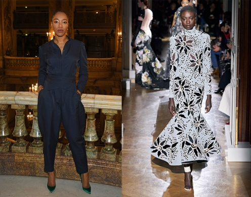 Naomi Ackie to wear Valentino Spring 2020 Couture